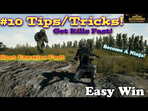 PUBG MOBILE 10 Tips/Tricks On How To See/Find Enemy Kill And Win