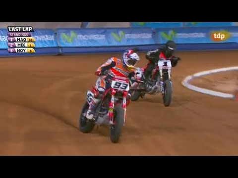 Superprestigio Dirt Track 2 Super Final Marc Marquez Vs Jared Mees