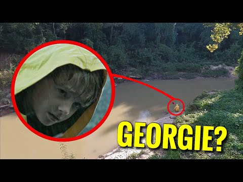 DRONE CATCHES GEORGIE FROM IT AT THE SEWER!! (IT'S ACTUALLY HIM)