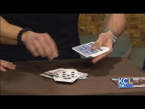 KCL - Magican and comedian Devin Henderson teaches Michales and Michelle a card trick
