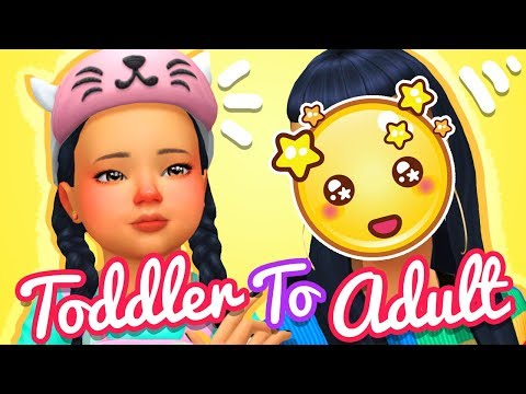 TODDLER TO ADULT CHALLENGE | THE SIMS 4 CAS