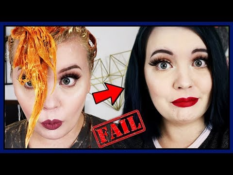Navy Hair Color Fail  Hair Dye Transformation