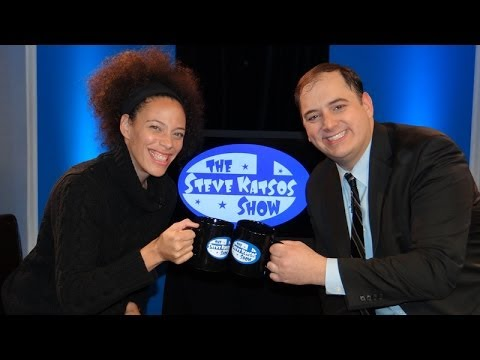 Bethany Van Delft does stand-up comedy on The Steve Katsos Show