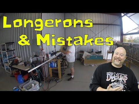 RV-10 Fuselage - 020 - Longerons and a massive mistake