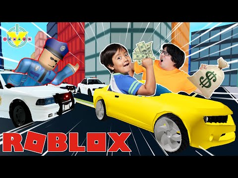 RYAN PLAYS MADCITY IN ROBLOX! Let's Play Roblox Mad City with Ryan's Daddy!