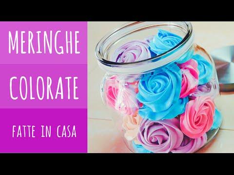 Roselline di meringhe colorate, dolcetti romantici ♥ VIDEORICETTA
