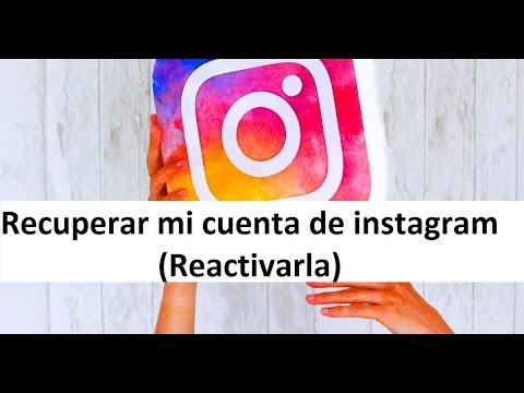 Como reactivar mi cuenta de instagram o recuperar