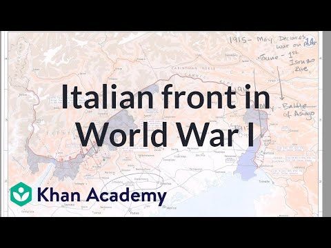 Italian front in world war i video khan academy sciox Gallery