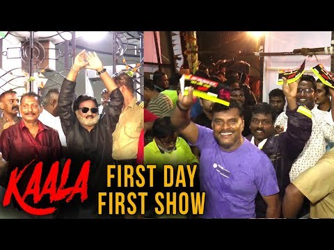 Rajinikanth's KAALA | Fans Celebrate | First Day F