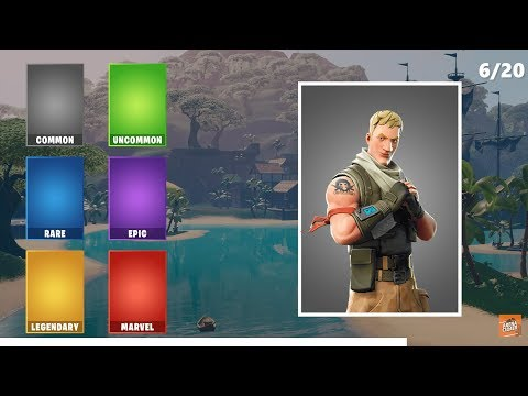 GUESS THE RARITY OF THE SKIN - Fortnite Challenge
