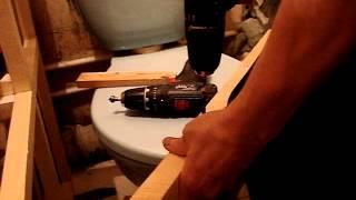 Bosch PSB 10 8 LI 2 сверление деревянного бруска