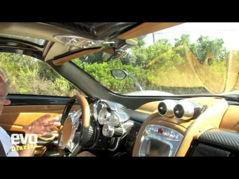 Pagani Huayra on the road- evo magazine video diary