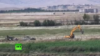 Эксклюзив RT: турецкая армия обстреливает курдов