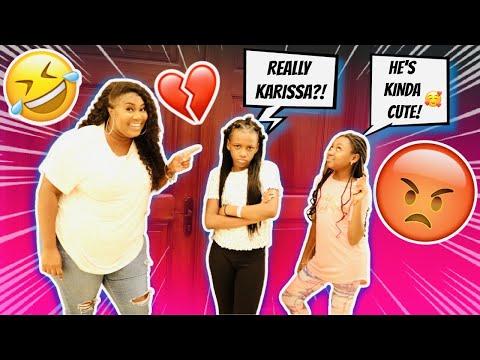 KARISSA LIKES AHZEE PRANK ON YAYA видео