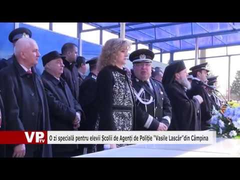 """O zi specială pentru elevii Școlii de Agenți de Poliție """"Vasile Lascăr""""din Câmpina"""
