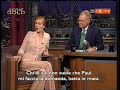 july 11, 2001. julia roberts appeared as guest on the late show with david letterman, and paul shaffer didn't lose the opportunity to ask her something about...