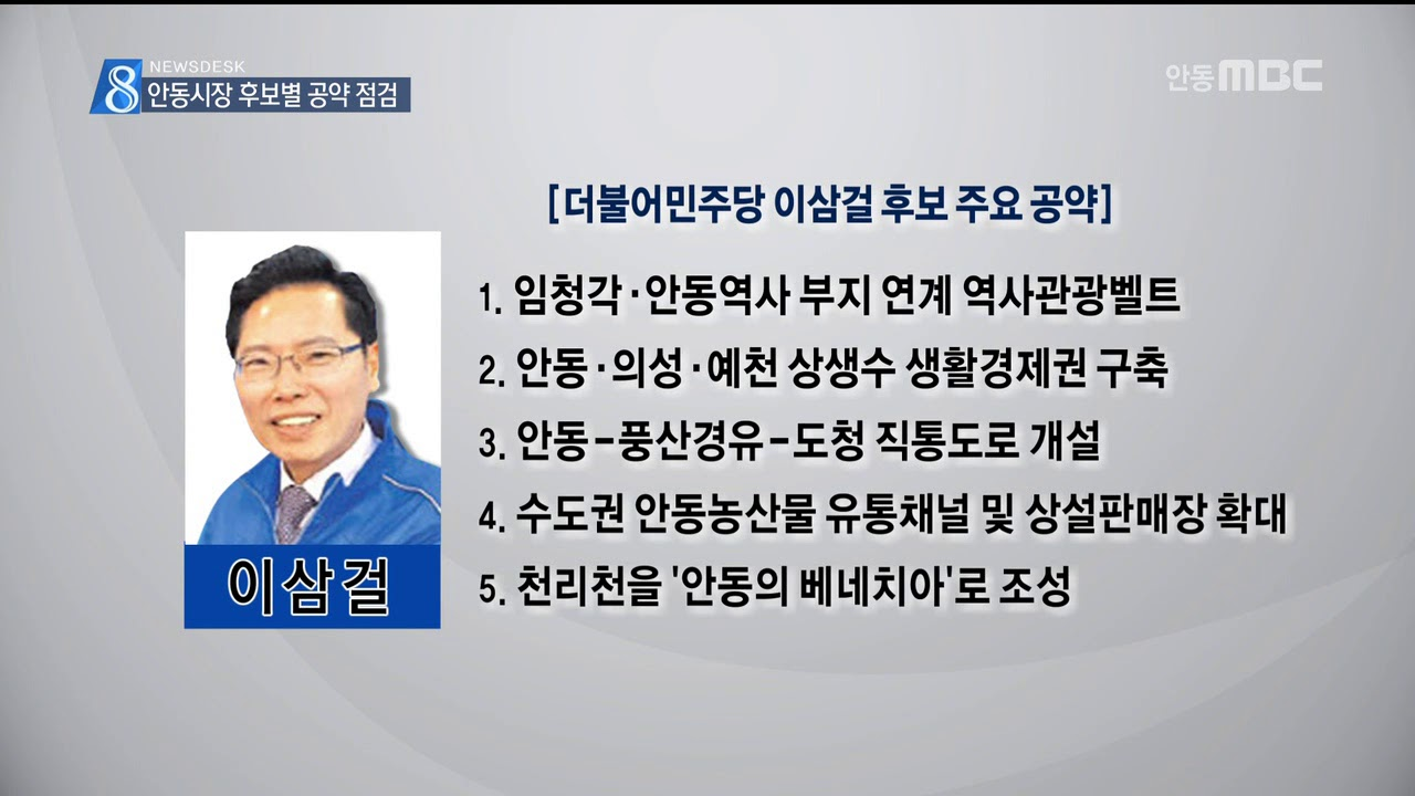 R]안동시장후보별 공약점검