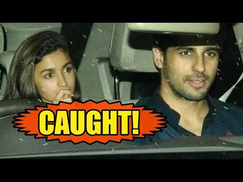 Sidharth Malhotra And Alia Bhatt CAUGHT Leaving Ta