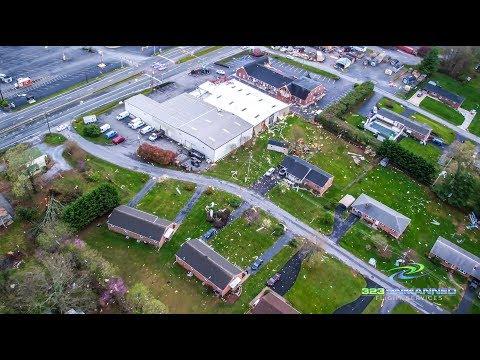 Lynchburg Tornado Aerial Footage – Timberlake Rd. – April 16, 2018