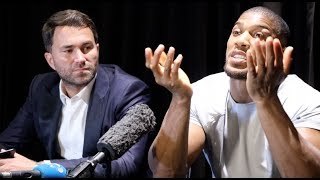 ANTHONY JOSHUA - PRESS CONFERENCE AFTER RUIZ DEFEAT