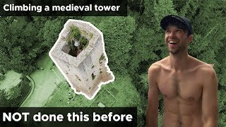 Climbers try scaling medieval ruins    BoulderingBobat by Bouldering Bobat