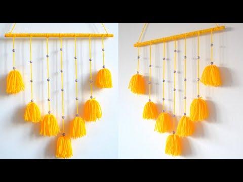 DIY Yarn wall Hanging   Home decor ideas   Wall Decor Ideas   Easy Craft Ideas