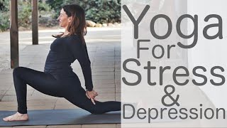 Video 38 Minute Yoga for Stress and Depression Yoga with Fightmaster Yoga MP3, 3GP, MP4, WEBM, AVI, FLV Maret 2018