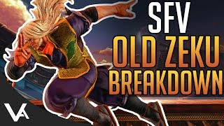 SFV - Old Zeku Gameplay Trailer Breakdown! Combos & Move List Analysis For Street Fighter 5