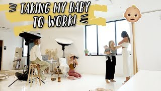 TAKING MY BABY TO WORK + my very dumb $600 mistake... by Aspyn + Parker