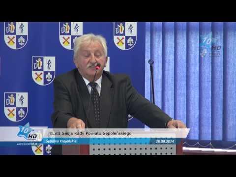 XLVII Sesja Rady Powiatu Sępoleńskiego, 26.09.2014 r.