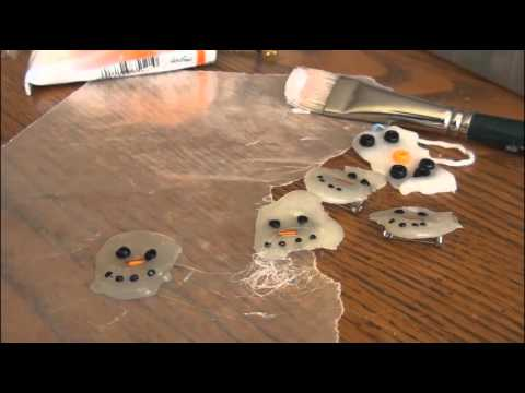 Holiday DIY: Melted Snowman Pin // Ornament // Pendant... [[Christmas Gift Idea]]