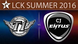 SKT T1 vs CJ Entus, game 1