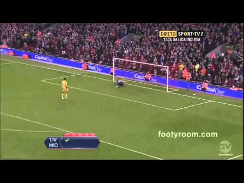 Liverpool Vs Middlesbrough 2 - 2 PENALTIES: 14-13 All Goals and Highlights Capital One Cup!