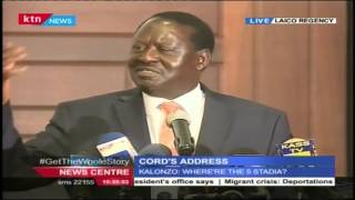 CORD Leader Raila Odinga's Full Speech During CORD's State Of The Nation Address