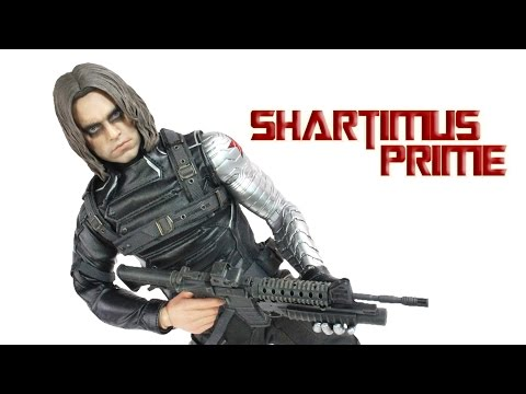 Hot Toys Winter Soldier Captain America Movie Masterpiece MMS 241 1:6 Scale Action Figure Review