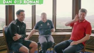 It's the Lions versus the All Blacks as Ronan O'Gara goes head-to-head with Dan Carter. The winner of this quiz almost certainly wins the Test Series. Ronan O'Gara and Dan Carter kindly provided their time while supporting the SoftCo Foundation.