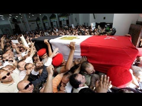 تشييع جثمان اللواء عمر سليمان - فيديو