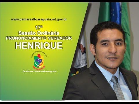 """Vereador Henrique """"Pyter"""" Pronunciamento do Requerimento 114/2017"""