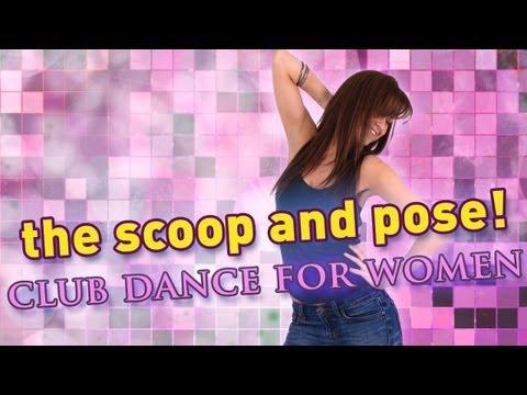 Клубные танцы: движения для девушек. Обучающее видео.