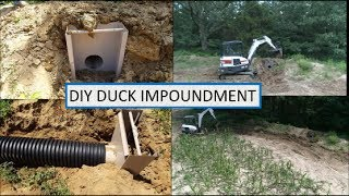 A complete look from start to finish on how to install a duck pond/impoundment water control structure. PLEASE SHARE THIS ...