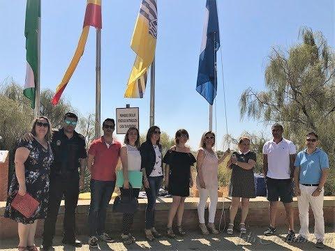Izada de las Banderas Azules de Isla Cristina