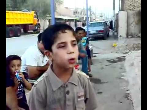 طفل عراقي يقلد معلق الجزيرة الرياضي عصام الشوالي