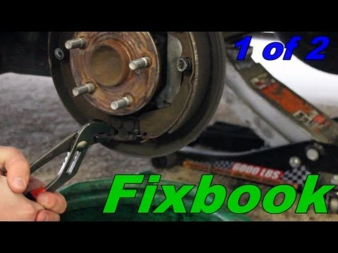 How to Remove Replace Drum Brakes Toyota Matrix/Pontiac Vibe