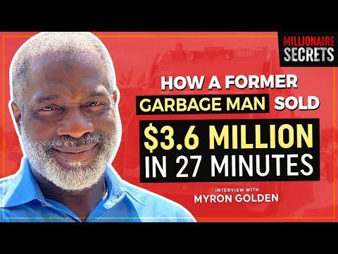 DR. MYRON GOLDEN: How a Former Sanitation Worker Sold $3.6 Million In 27 Min - Millionaire Secrets