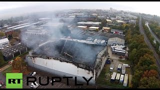 Bracknell United Kingdom  city images : UK: Drone captures Bracknell industrial estate on fire