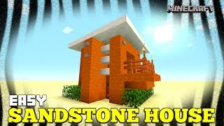 Minecraft: How To Build A Small Survival House Tutorial (Sandstone House ) (Mesa Biome House) 2016