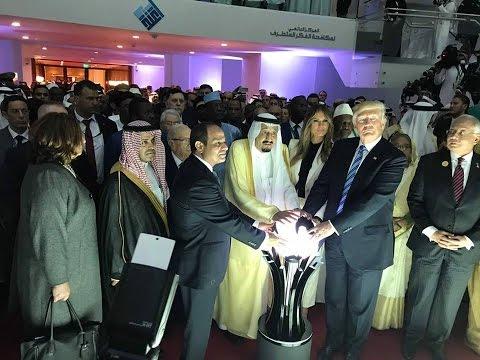 الرئيس عبد الفتاح السيسي يشارك الملك سلمان والرئيس الامريكي بافتتاح مركز (