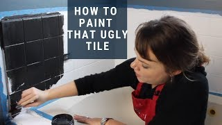 How to Paint Tile | Easy Bathroom Renovation