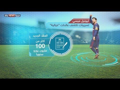 العرب اليوم - بالفيديو: راتب ميسي في الساعة الواحدة