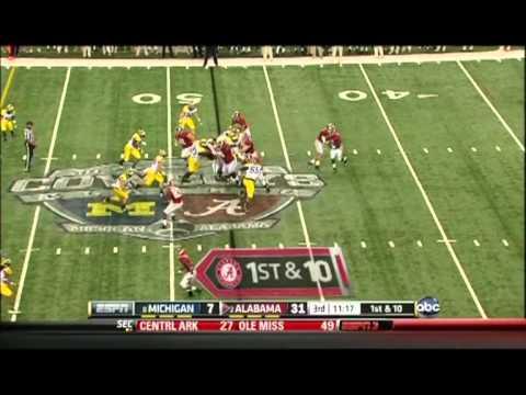T.J. Yeldon vs Michigan 2012 video.